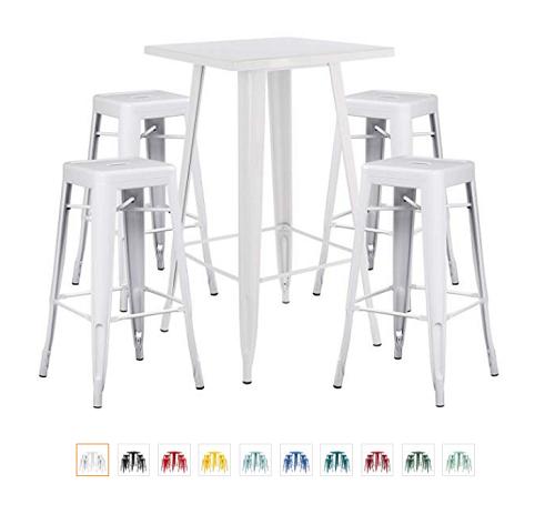 mesa taburetes estilo industrial